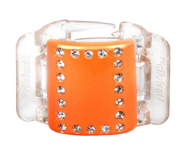 Linziclip Midi Hair Clip Cosmetic 1ks Orange Crystal