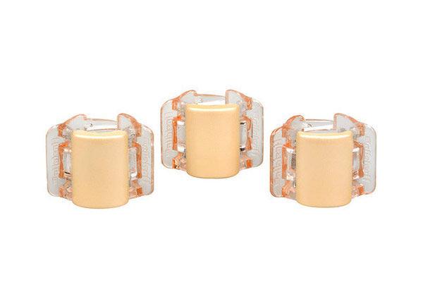 Linziclip Mini Hair Clip Cosmetic 1pc Linen Pearl Translucent