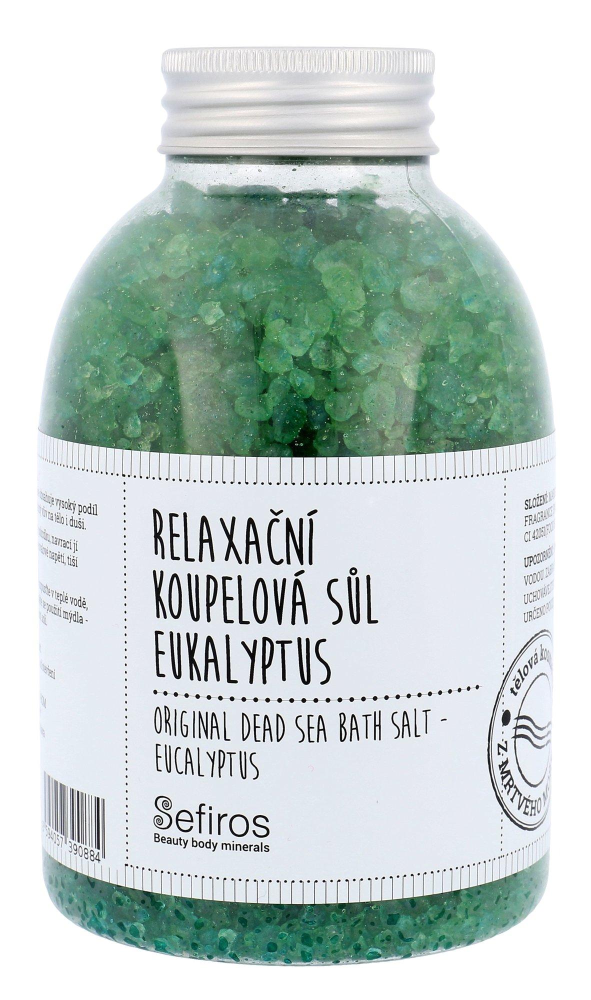 Sefiros Original Dead Sea Bath Salt Eucalyptus Cosmetic 500g