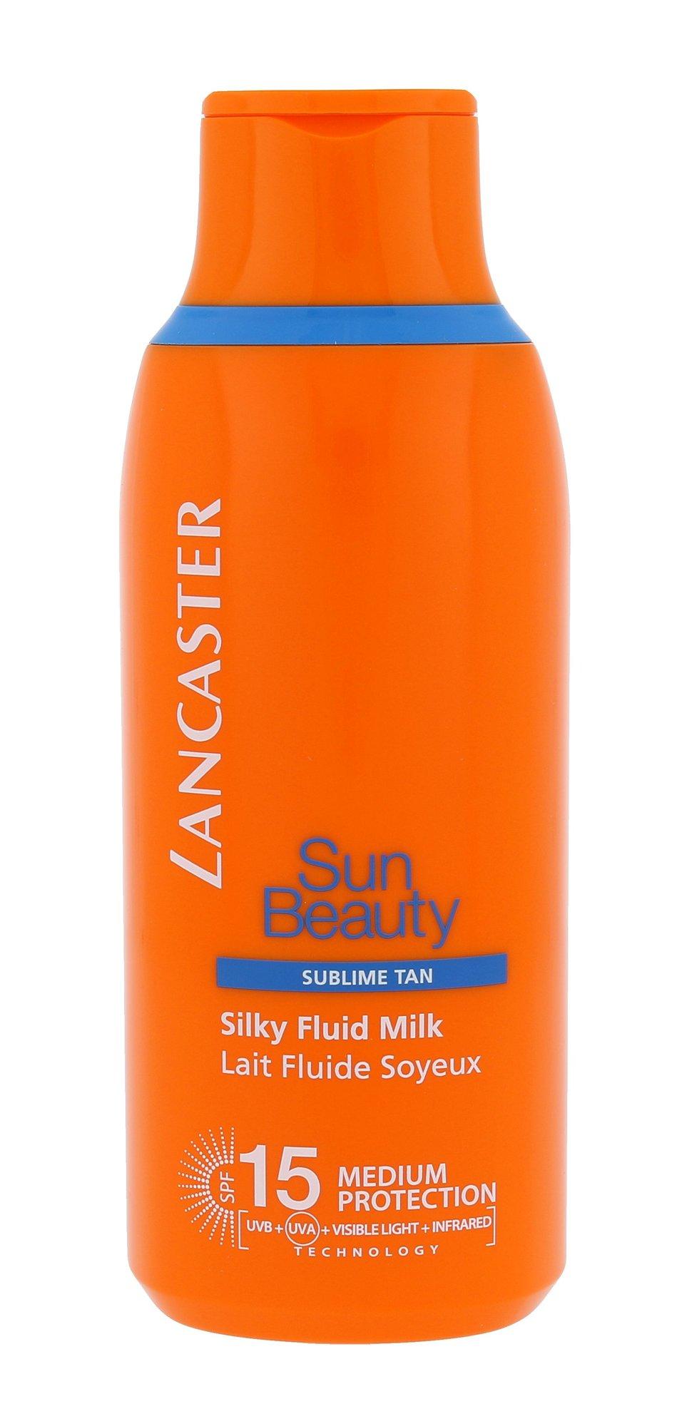 Lancaster Sun Beauty Silky Fluid Milk SPF15 Cosmetic 175ml
