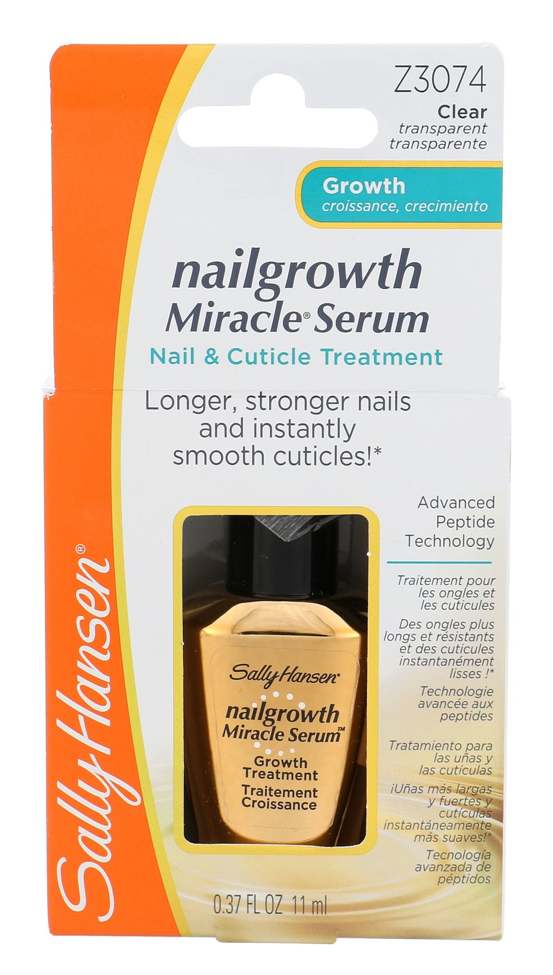 Sally Hansen Nailgrowth Miracle Serum Cosmetic 11ml Clear