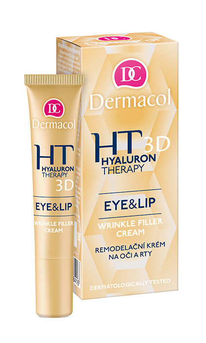 Paakių kremas Dermacol Hyaluron Therapy 3D Eye & Lip Cream