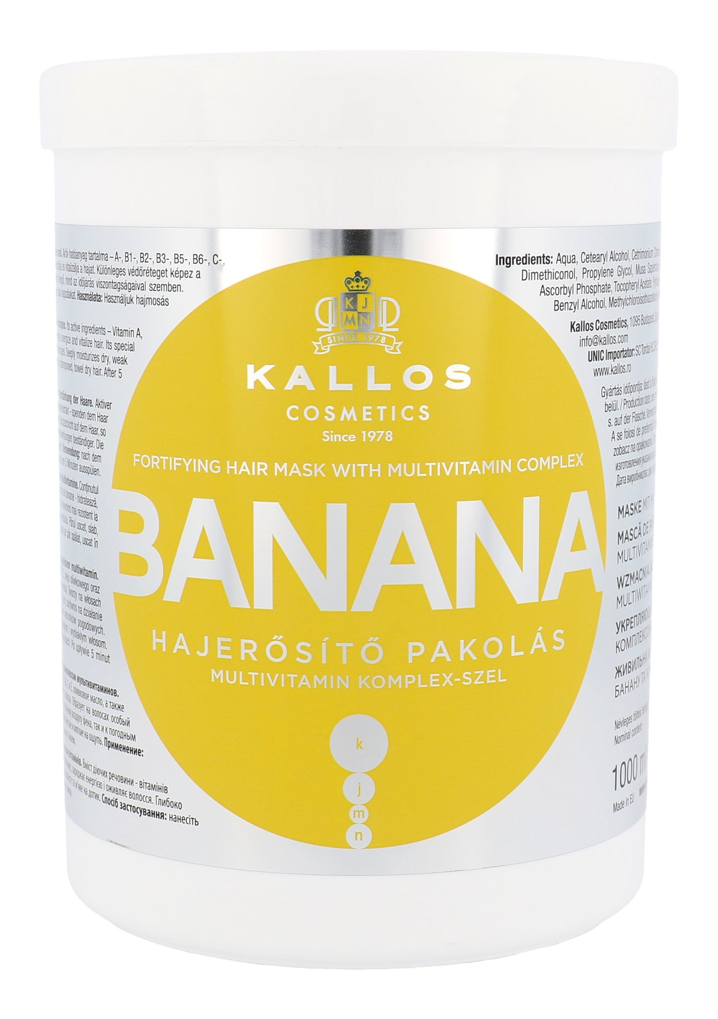 Kallos Cosmetics Banana Cosmetic 1000ml
