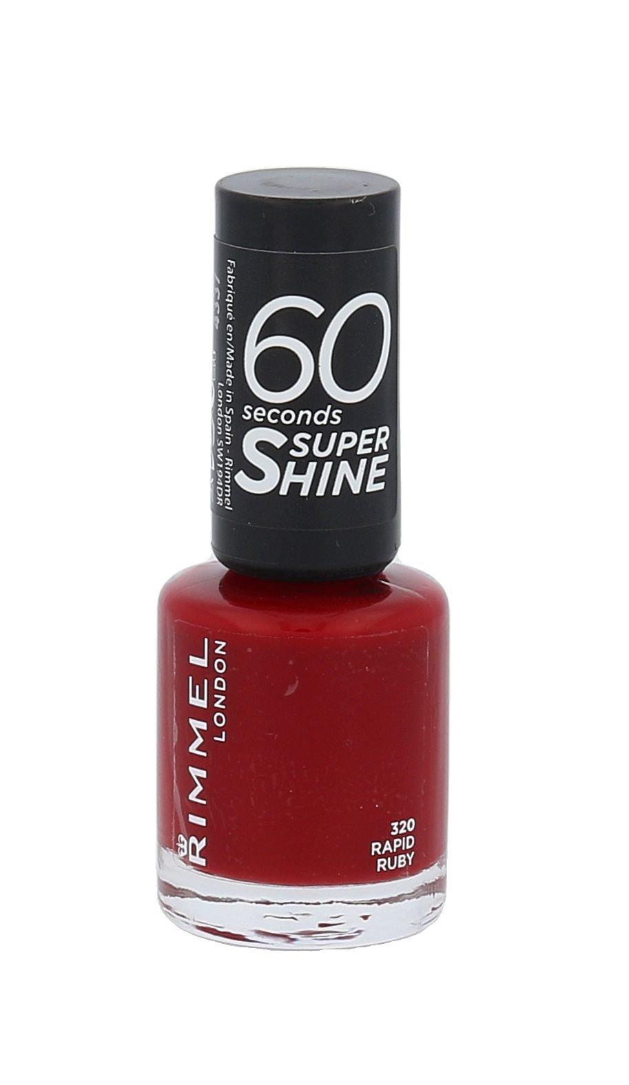 Rimmel London 60 Seconds Cosmetic 8ml 320 Rapid Ruby