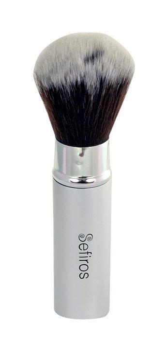 Sefiros Silver Retractable Brush Cosmetic 1ks