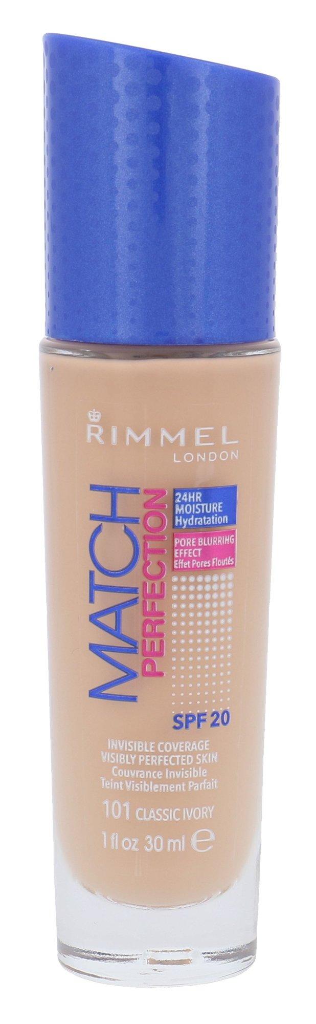 Rimmel London Match Perfection Cosmetic 30ml 101 Classic Ivory