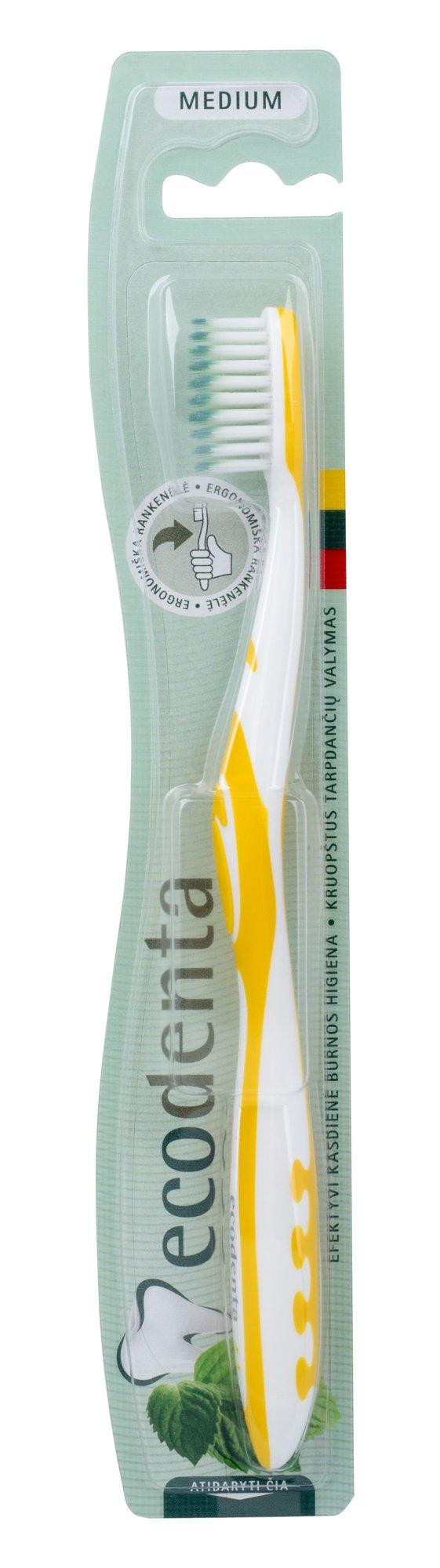 Ecodenta Toothbrush Cosmetic 1ml Yellow Medium