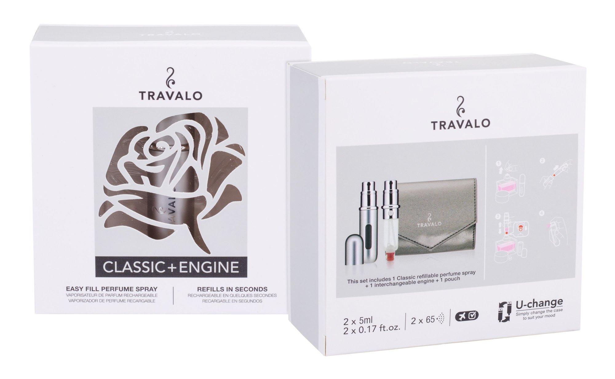 Travalo Travalo Classic HD refillable flacon 2x5ml Silver