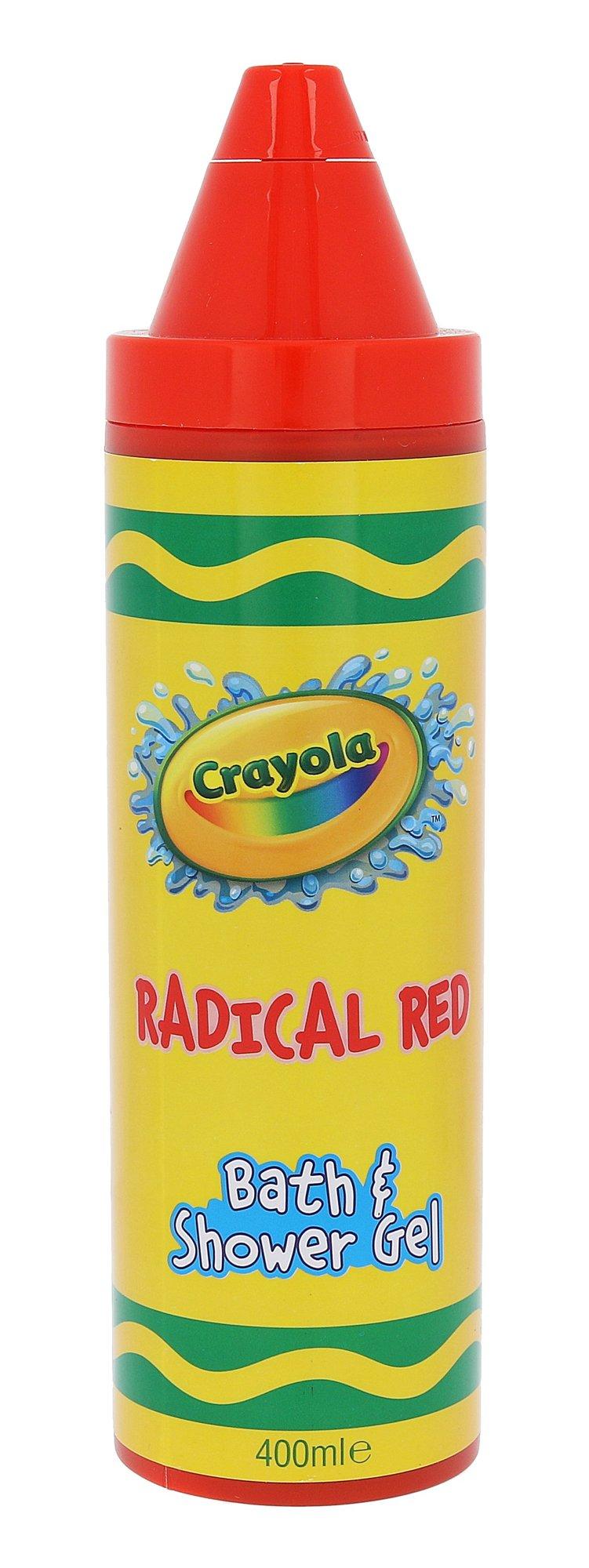 Crayola Bath & Shower Gel Cosmetic 400ml Radical Red