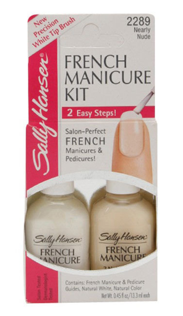 Sally Hansen Hard As Nails Cosmetic 2x13,3ml 2289 Nearly Nude French Manicure Kit