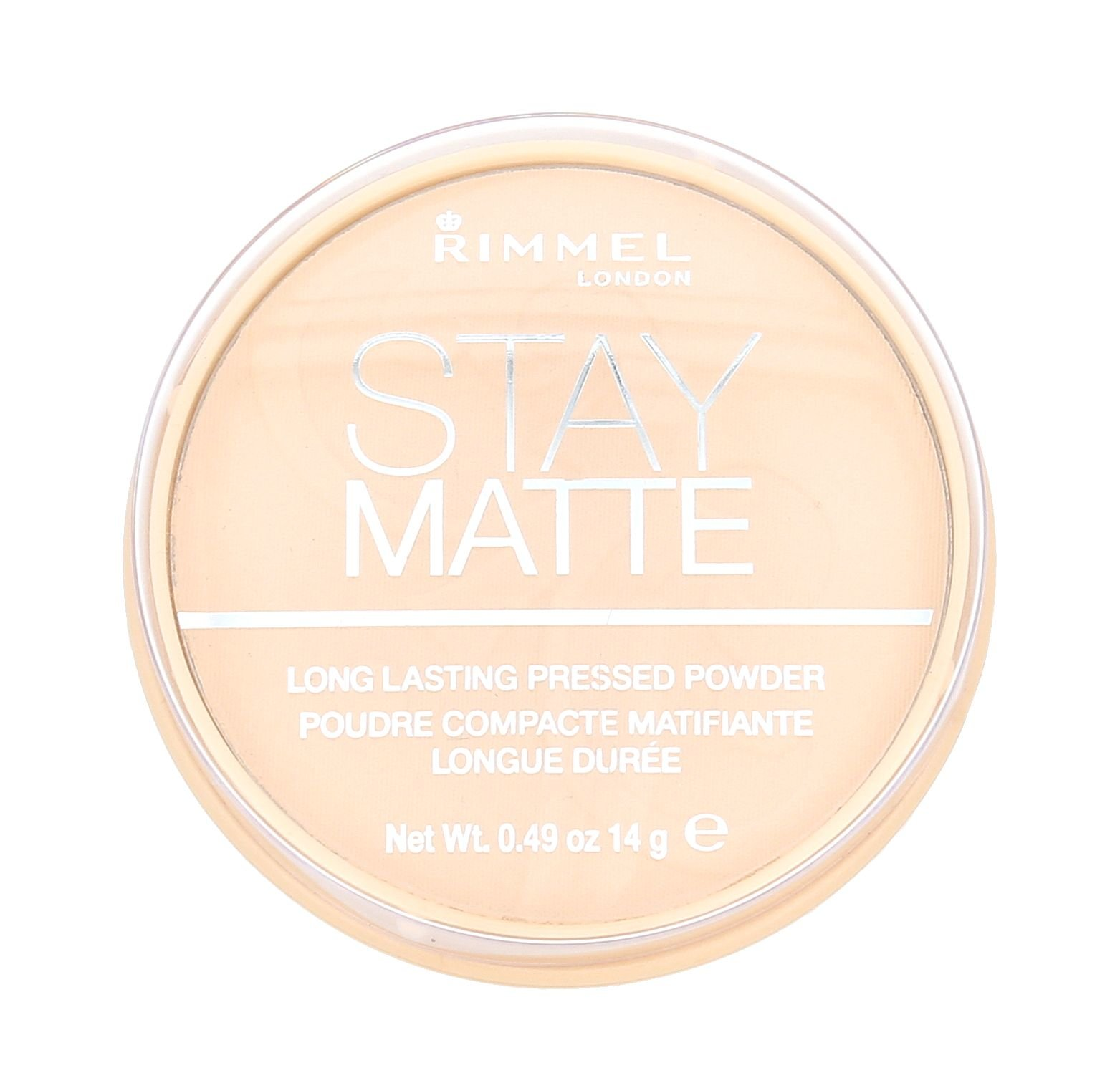 Rimmel London Stay Matte Long Lasting Pressed Powder Cosmetic 14g 001 Transparent