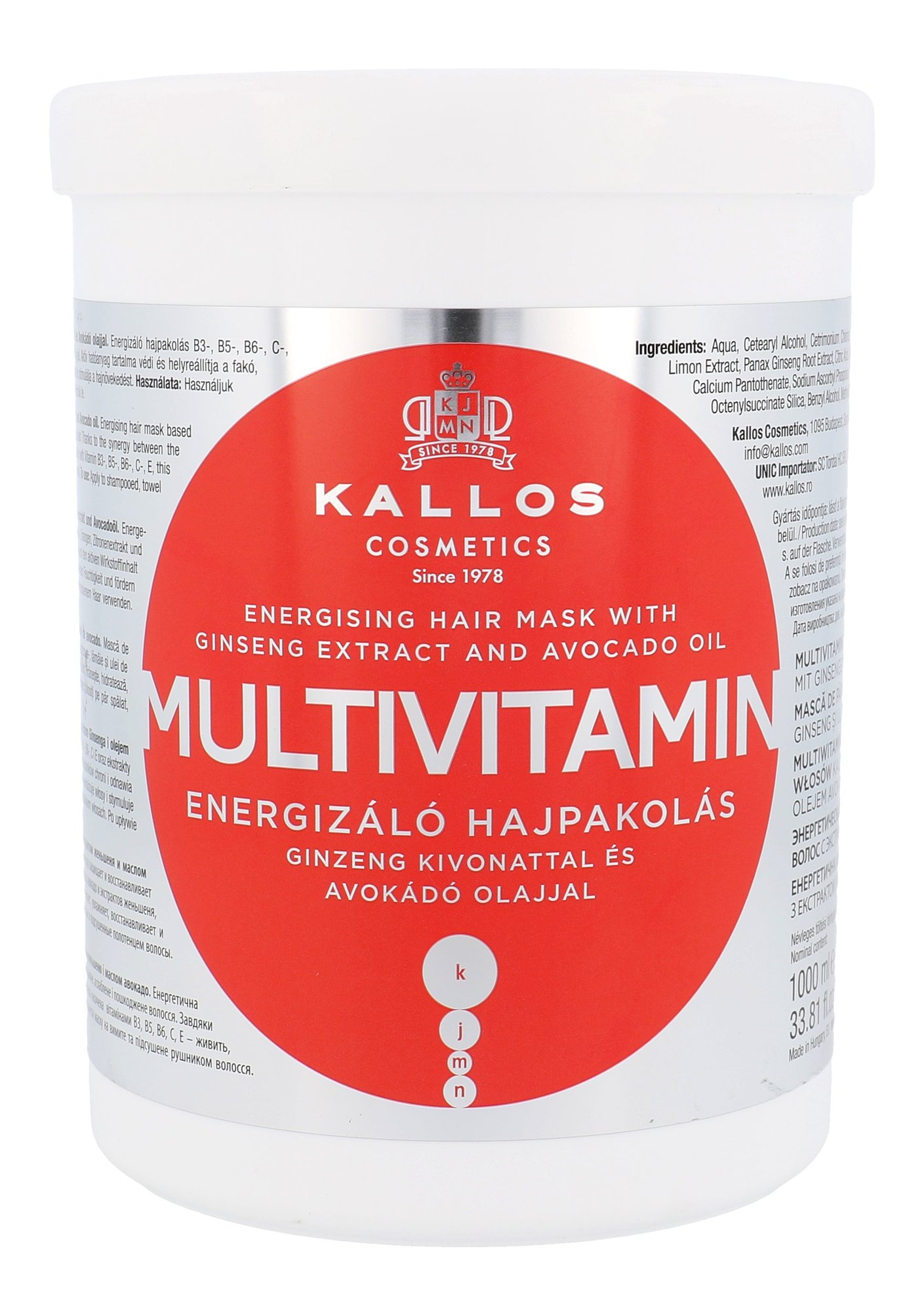 Kallos Cosmetics Multivitamin Cosmetic 1000ml