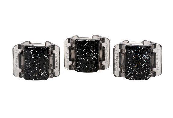 Linziclip Mini Hair Clip Cosmetic 1ks Black Glitter