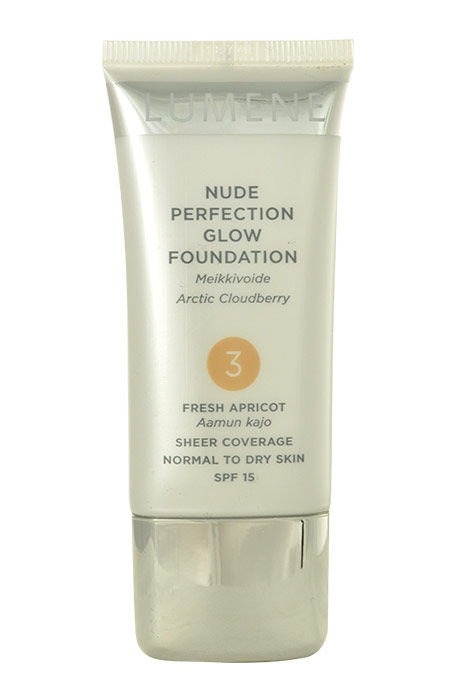 Lumene Nude Perfection Glow Foundation SPF15 Cosmetic 30ml 2 Soft Honey