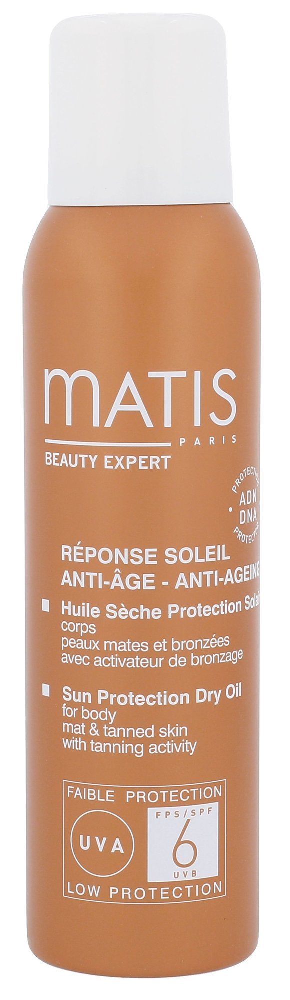 Matis Réponse Soleil Sun Protection Dry Oil SPF6 Cosmetic 125ml