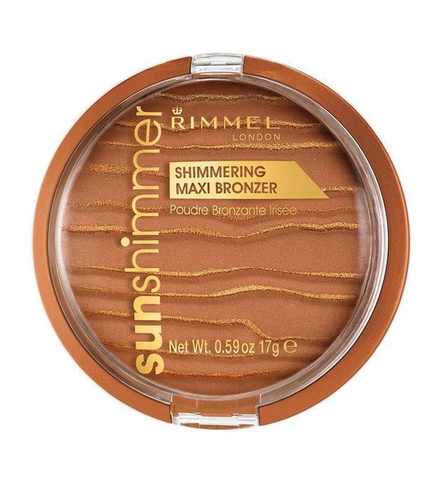 Rimmel London Sun Shimmer Shimmering Maxi Bronzer Cosmetic 17ml 003 Sun Queen