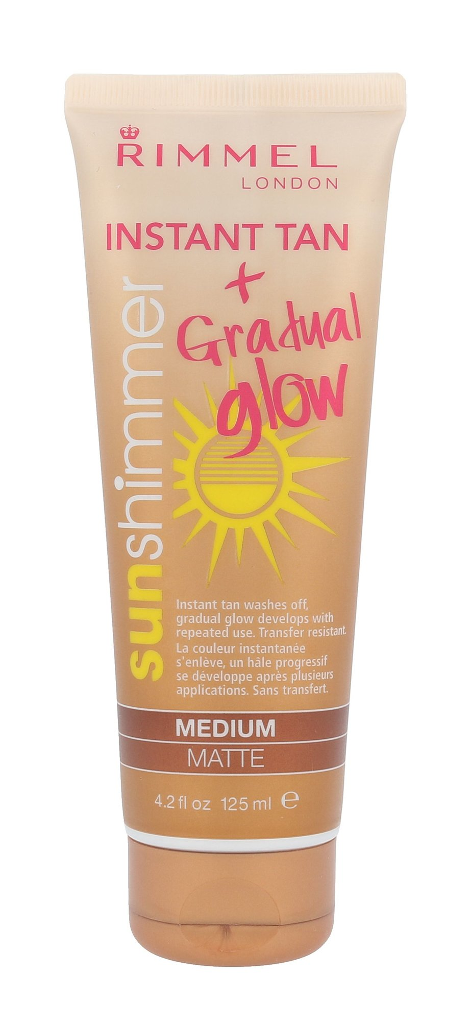 Rimmel London Sun Shimmer Instant Tan Cosmetic 125ml Medium Matte