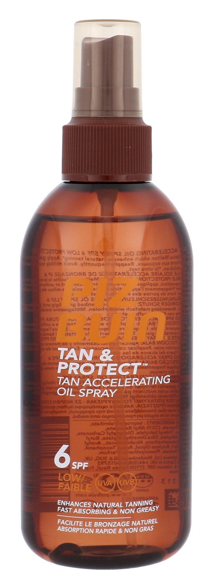 Apsaugai nuo saulės Piz Buin Tan & Protect Tan Accelerating Oil Spray SPF6