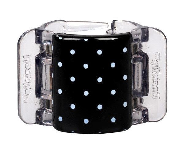 Linziclip Midi Cosmetic 1ml Black With White Polka Dots