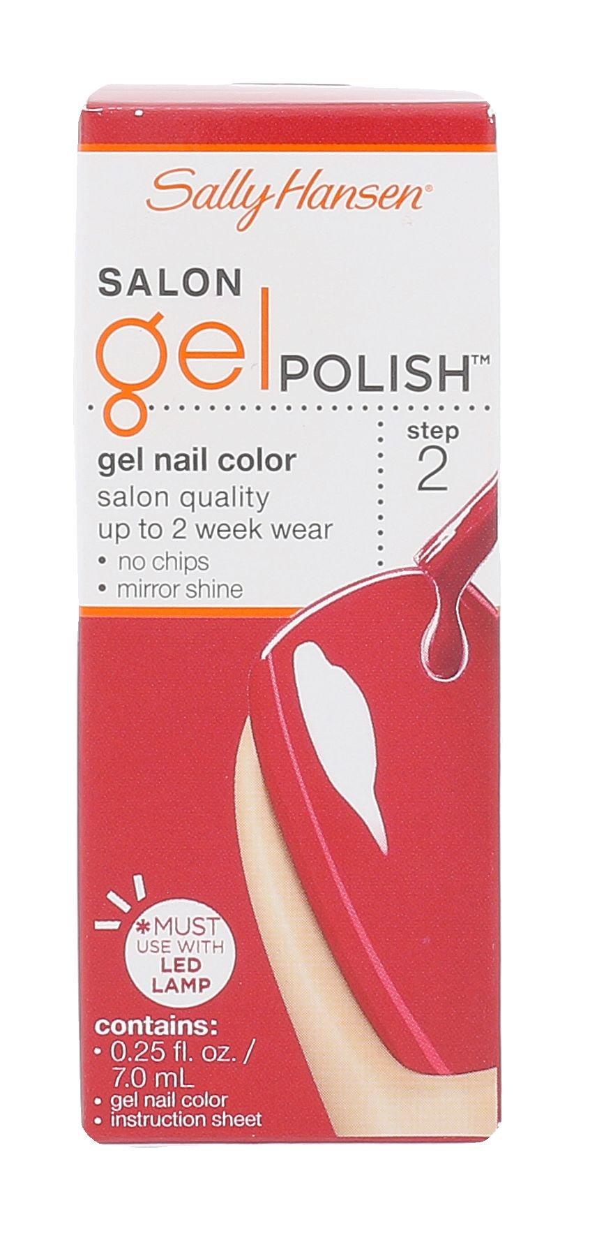 Sally Hansen Salon Gel Polish Cosmetic 7ml 220 Red My Lips