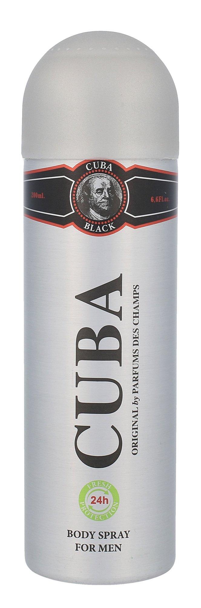Cuba Black Deodorant 200ml