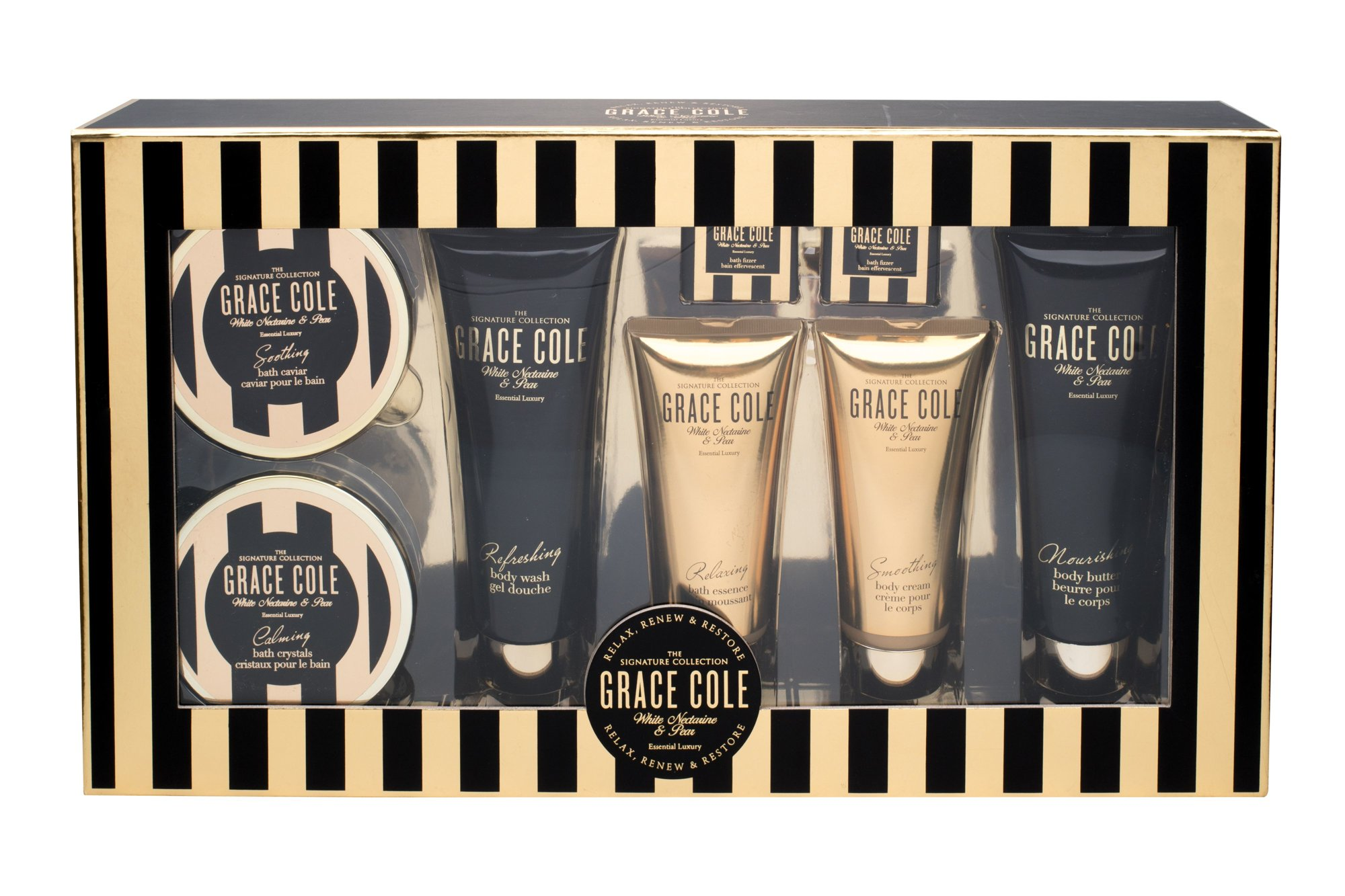 Grace Cole White Nectarine & Pear Essential Luxury Kit Cosmetic 200ml