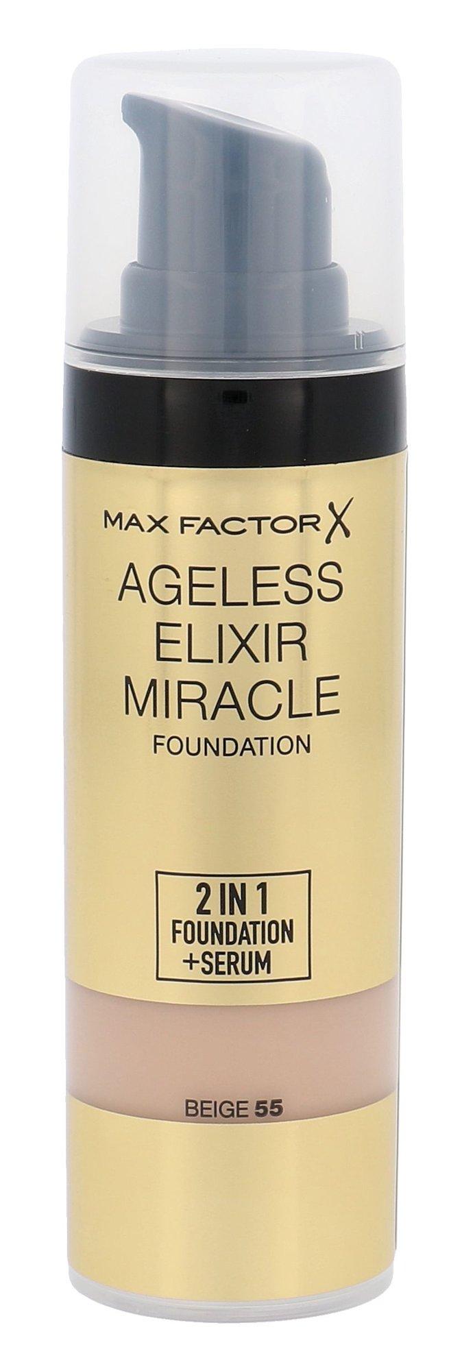 Kreminė pudra Max Factor Ageless Elixir 2v1 Foundation + Serum SPF15