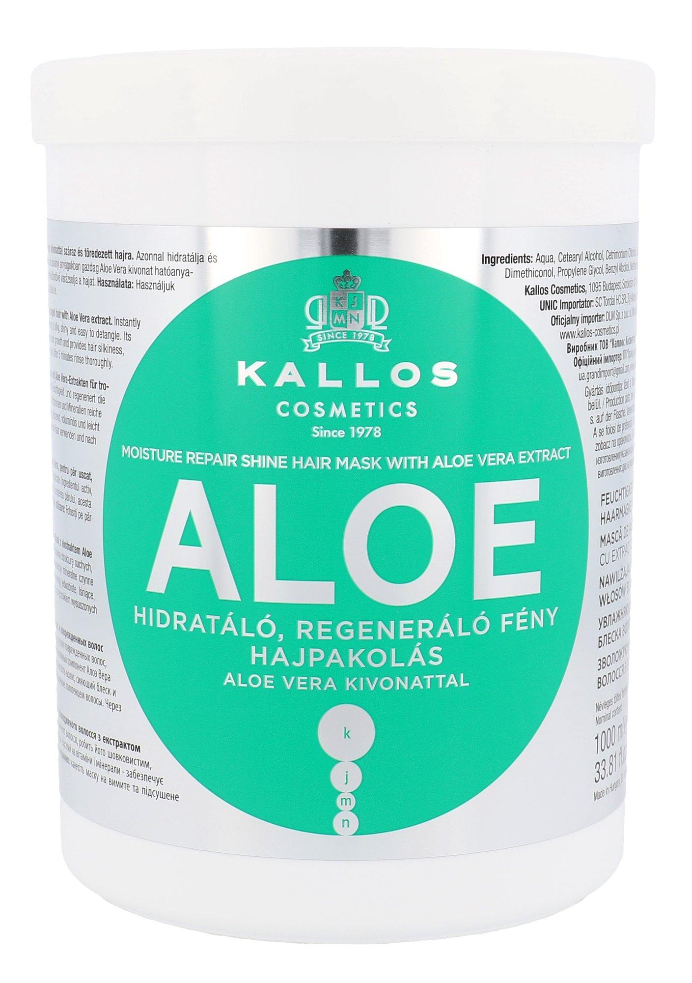 Plaukų kaukė Kallos Cosmetics Aloe Vera