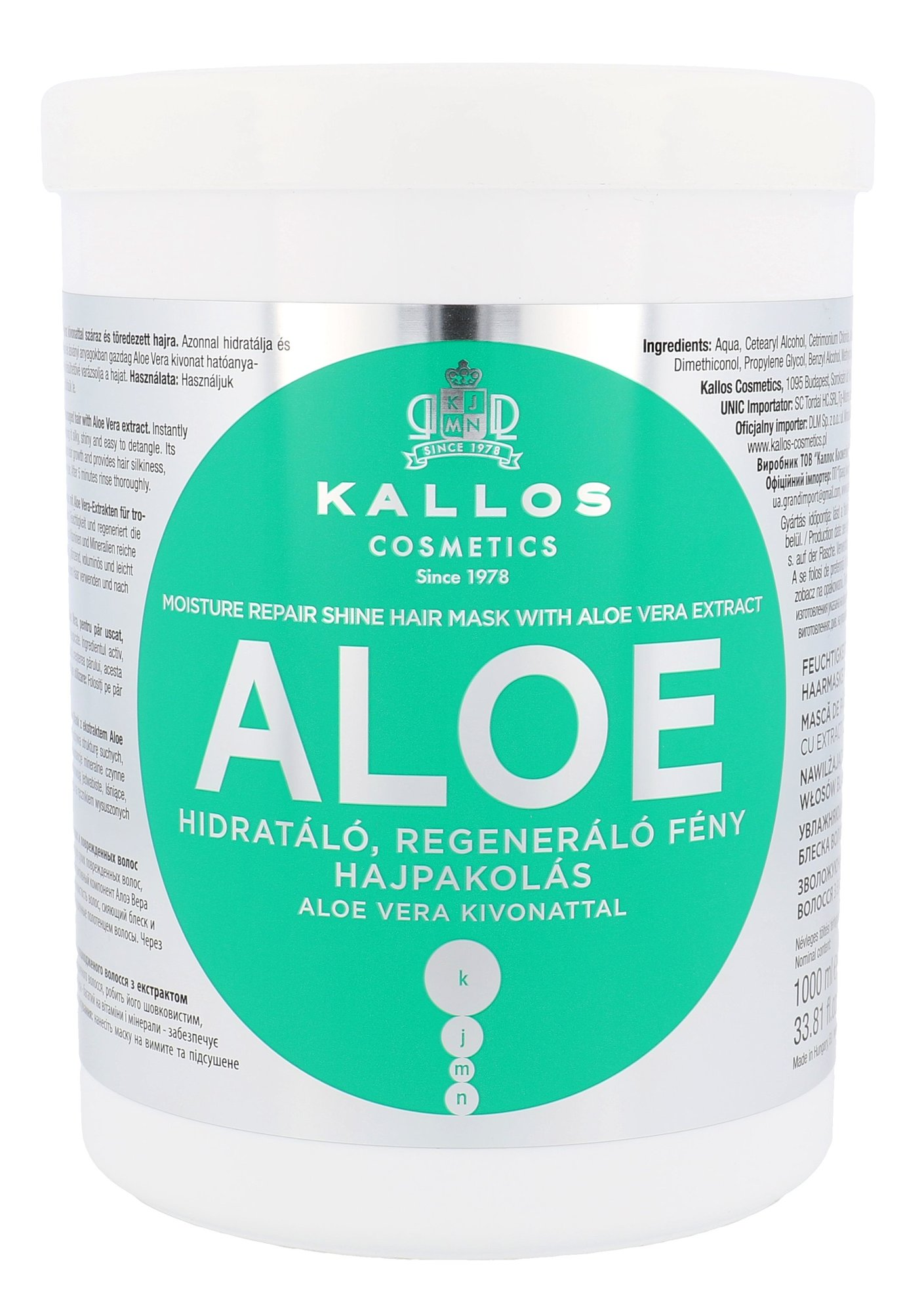 Kallos Cosmetics Aloe Vera Cosmetic 1000ml