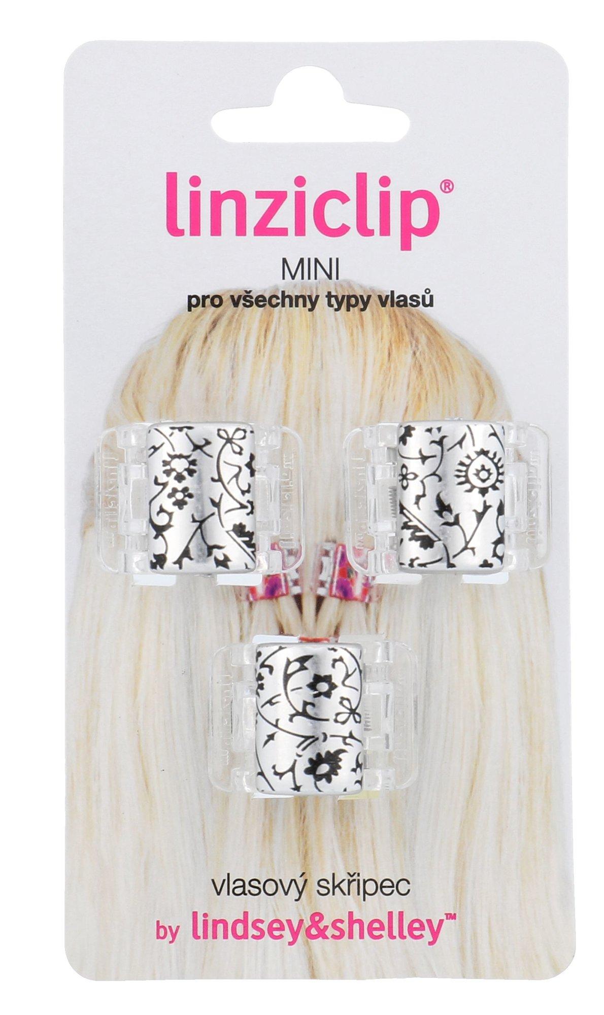 Linziclip Mini Cosmetic 3ml Silver Metallic Floral