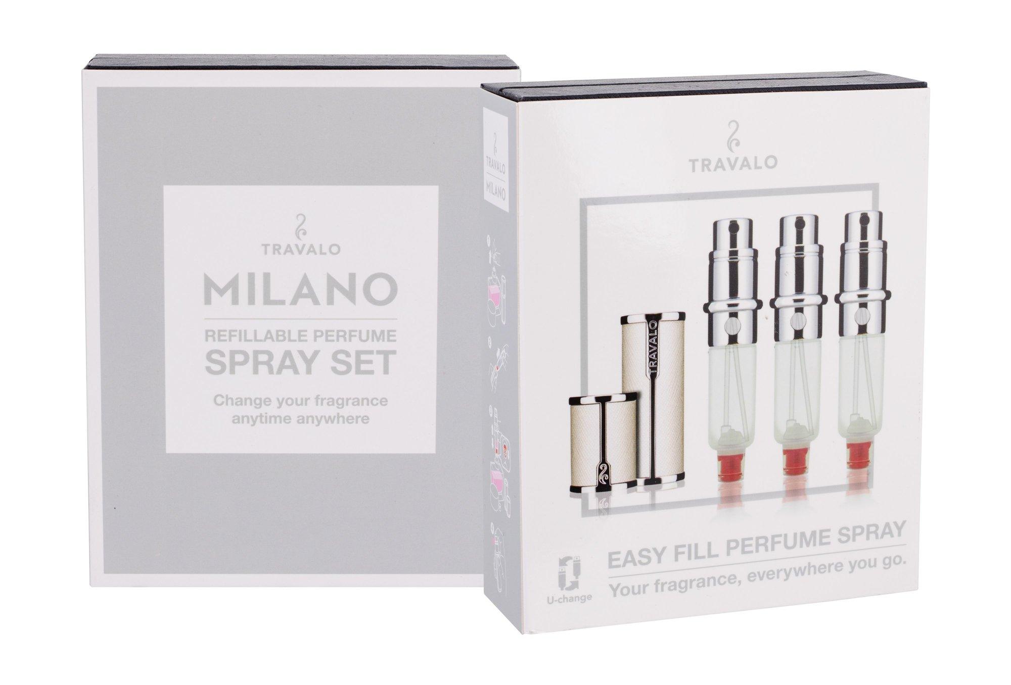 Travalo Milano refillable flacon 3x5ml White