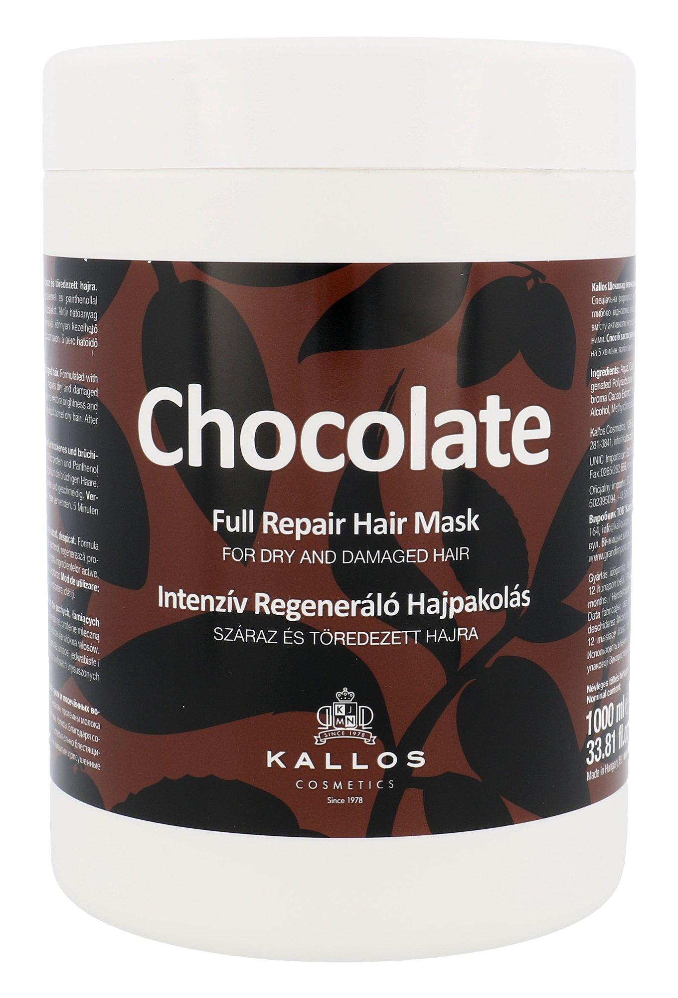 Plaukų kaukė Kallos Cosmetics Chocolate