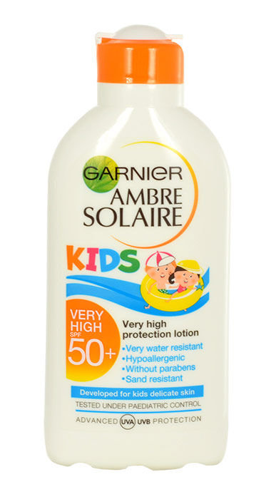 Garnier Ambre Solaire Kids Cosmetic 200ml  Protection Lotion SPF50+