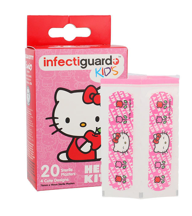 Hello Kitty Infectiguard Cosmetic 20ml  Kids Sterile Plaster