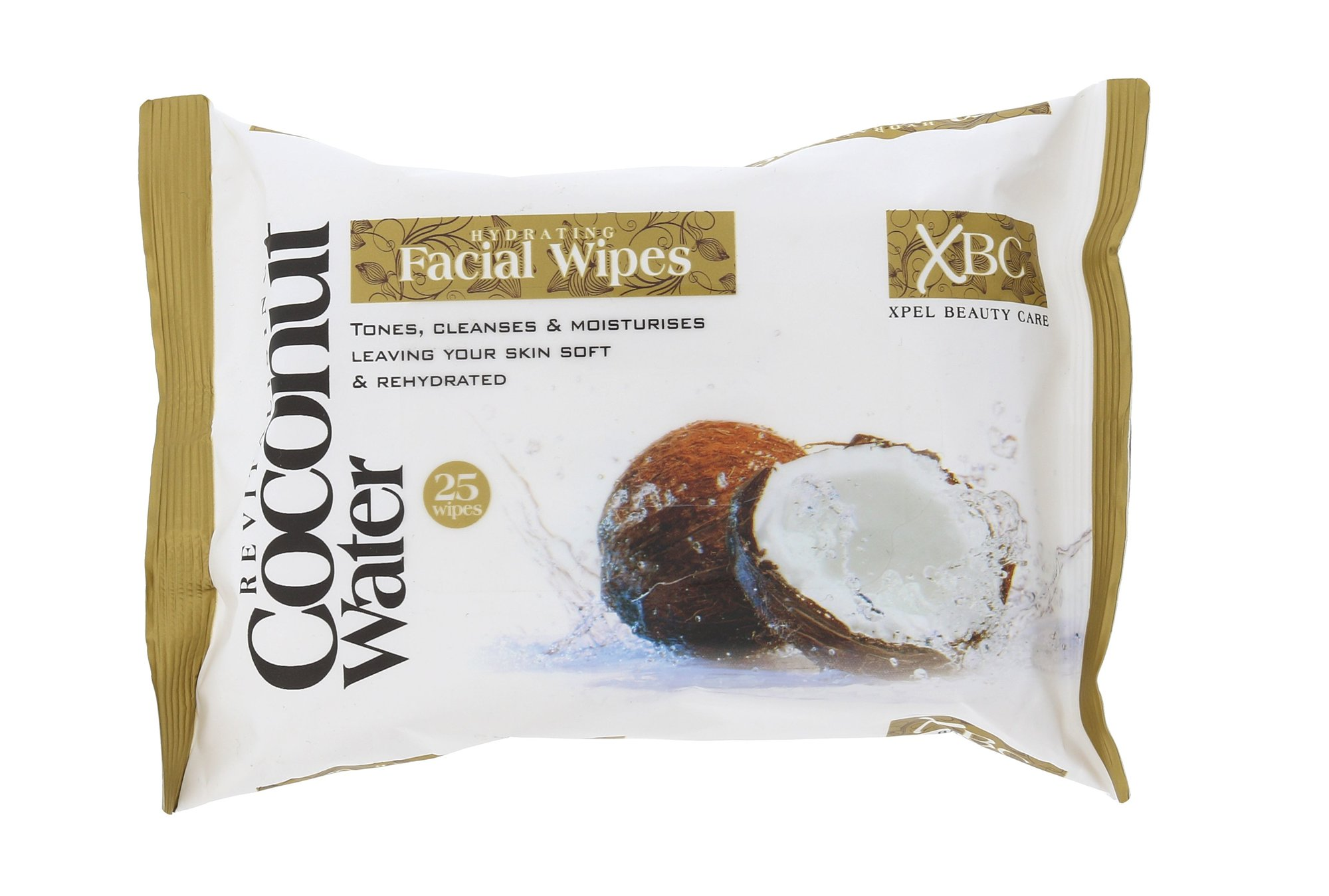 Xpel Coconut Water Cosmetic 25ml  Hydrating Facial Wipes