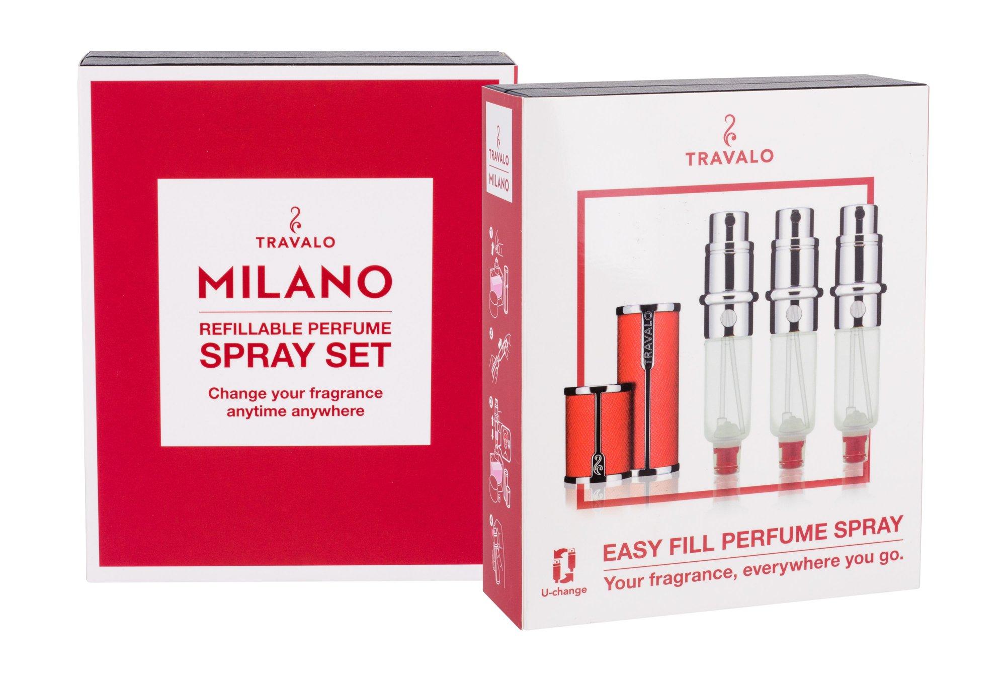 Travalo Milano refillable flacon 3x5ml Red