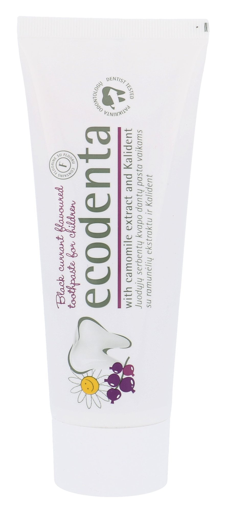 Ecodenta Toothpaste Cosmetic 75ml  Black Currant Flavoured
