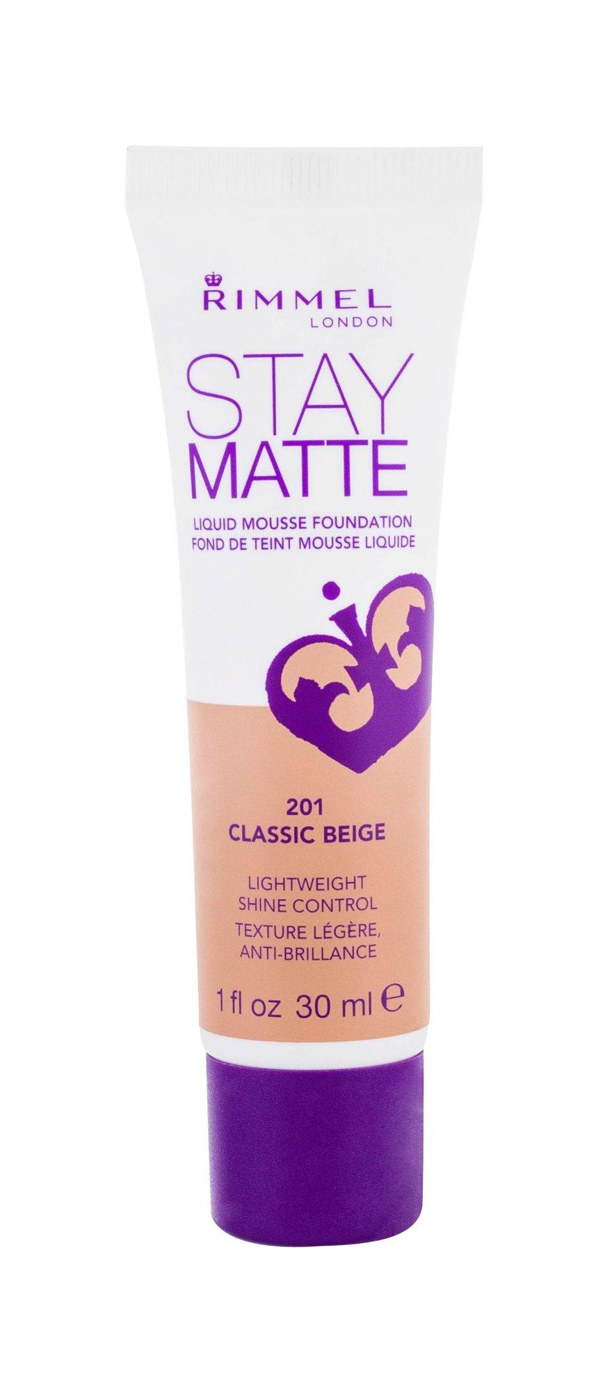 Rimmel London Stay Matte Cosmetic 30ml 201 Classic Beige