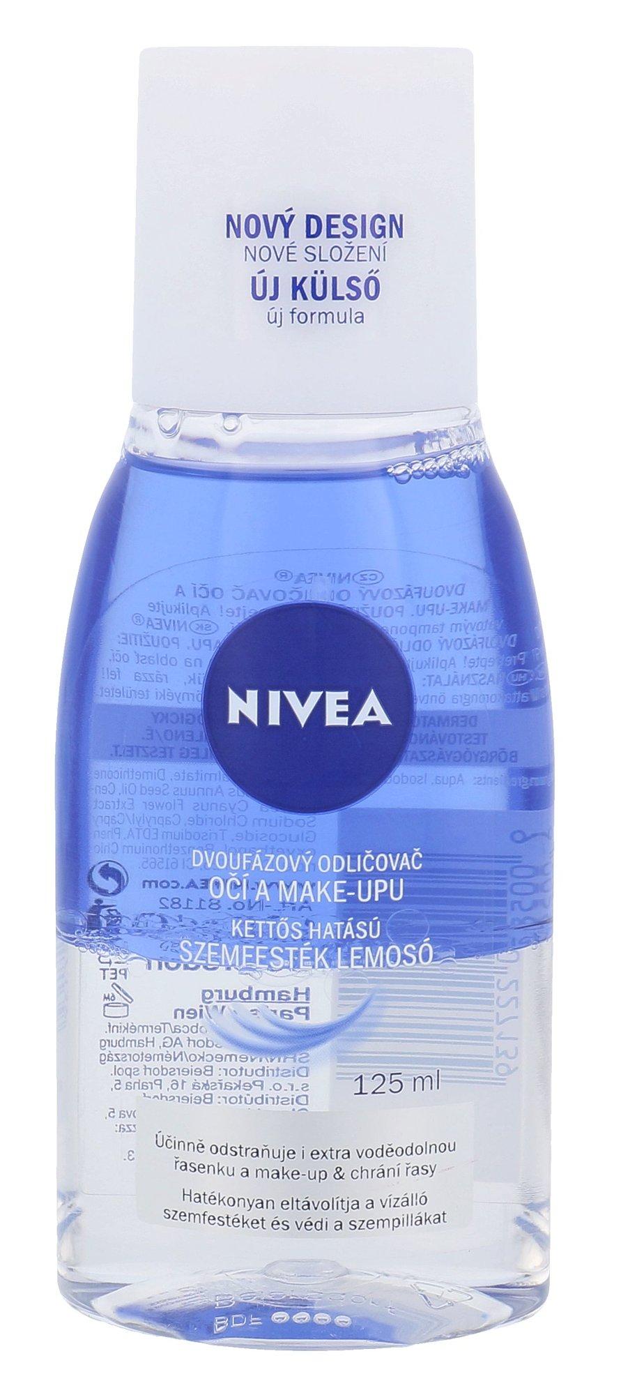 Blakstienų tušo valiklis Nivea Double Effect Eye Make-up Remover