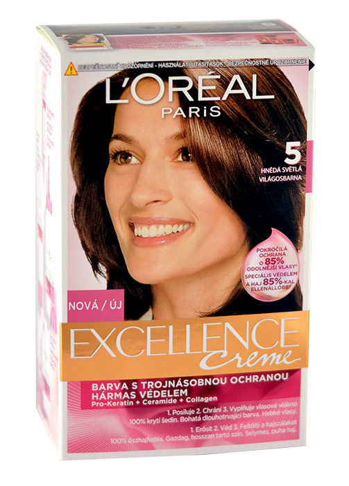 L´Oréal Paris Excellence Creme Cosmetic 1ml 5 Natural Brown