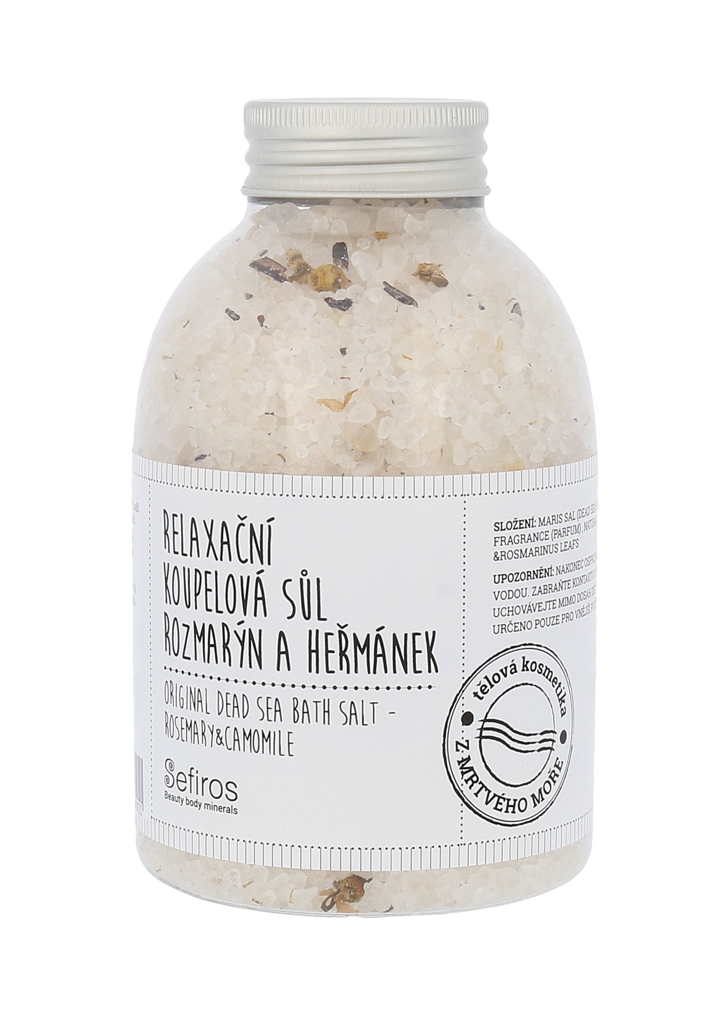 Sefiros Original Dead Sea Bath Salt Cosmetic 500ml  Rosemary & Camomile
