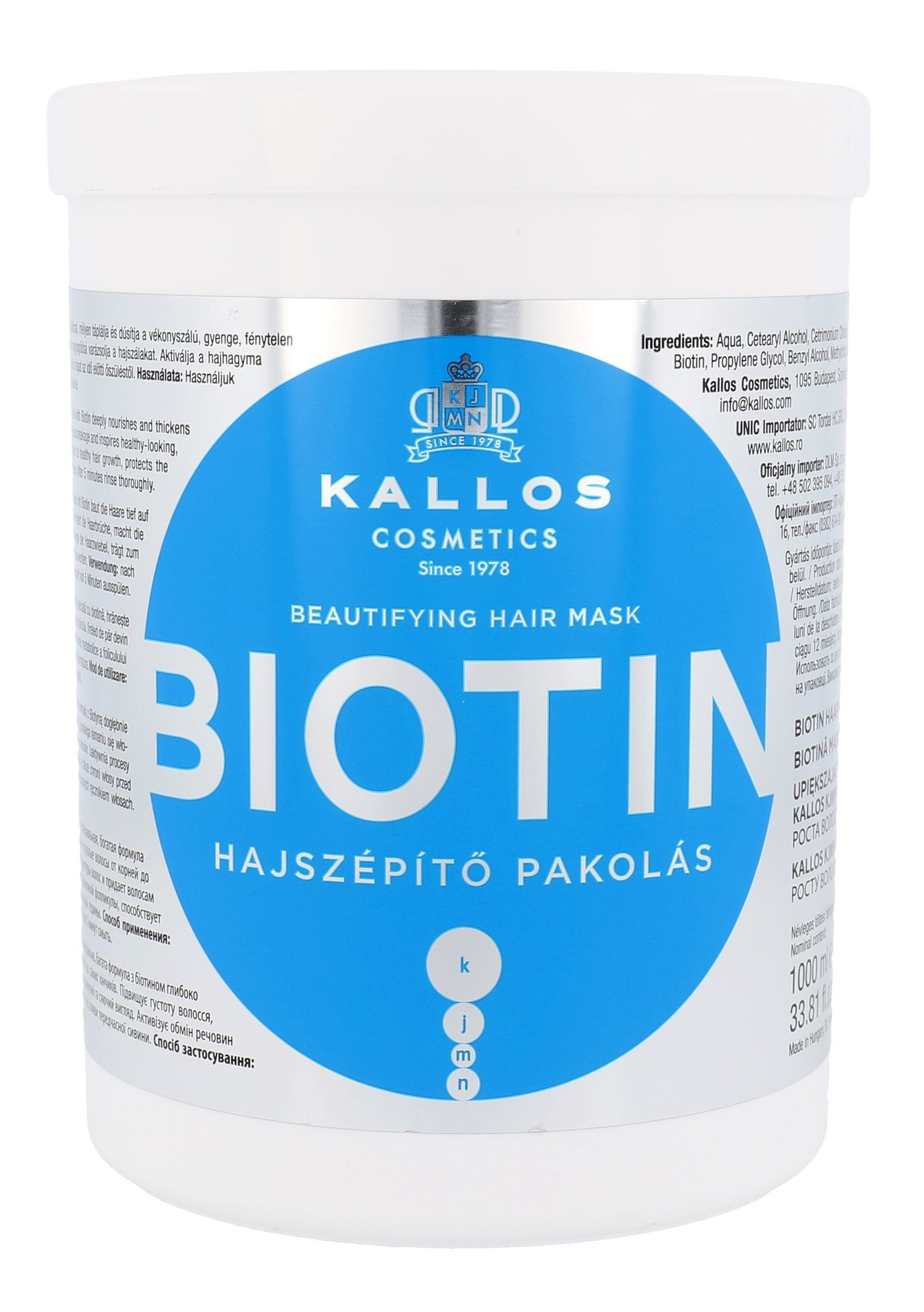 Kallos Cosmetics Biotin Cosmetic 1000ml