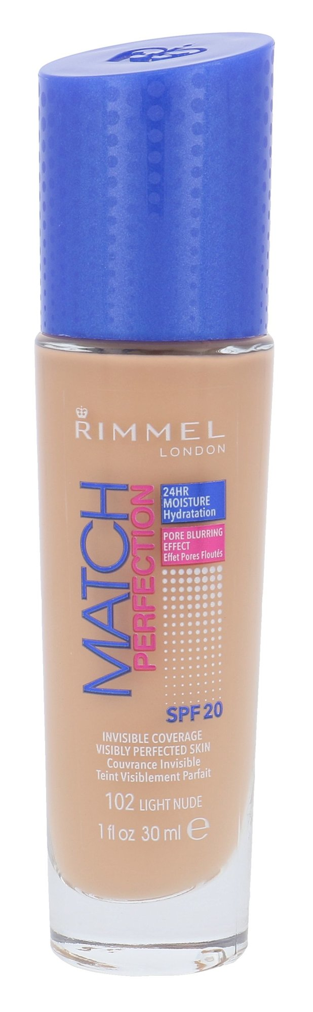 Rimmel London Match Perfection Cosmetic 30ml 102 Light Nude