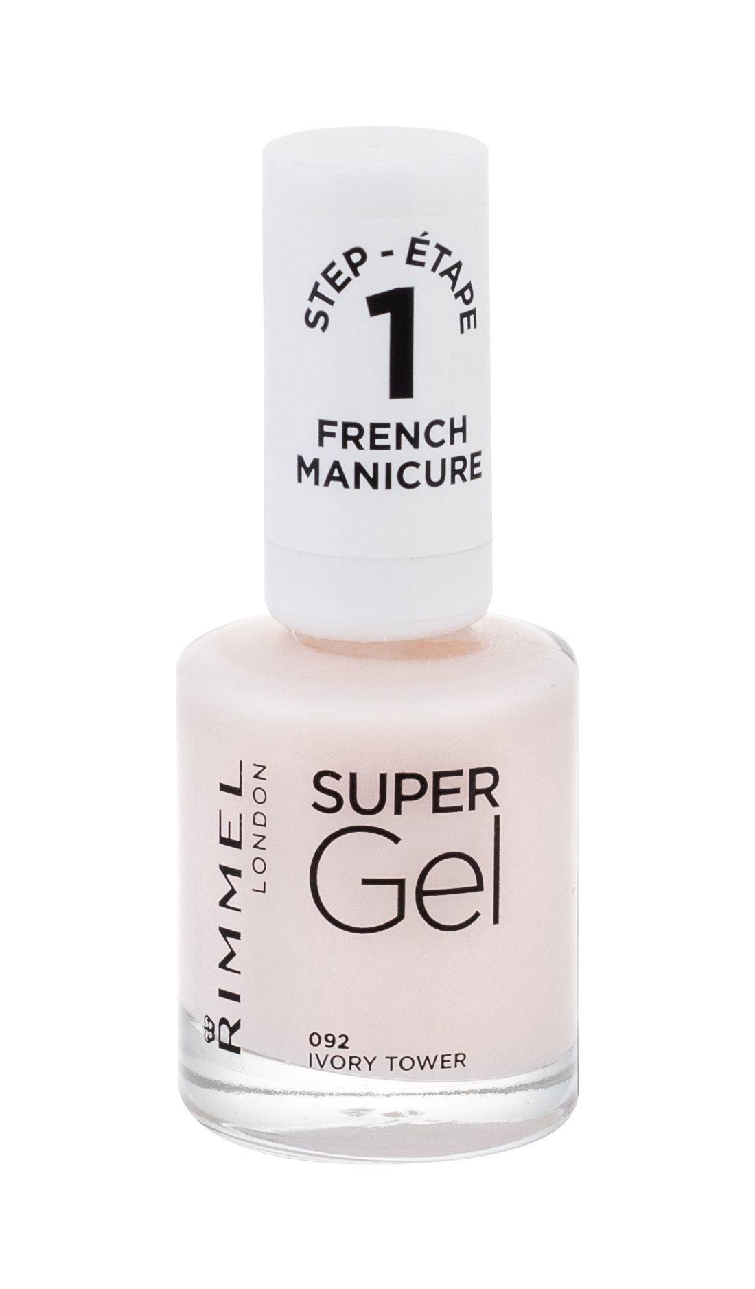 Rimmel London Super Gel French Manicure Nail Polish 12ml 092 Ivory Tower