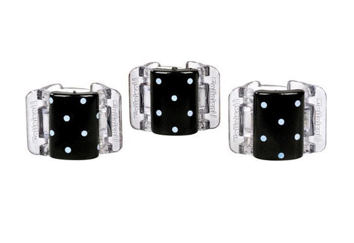 Linziclip Mini Cosmetic 3ml Black With White Polka Dots