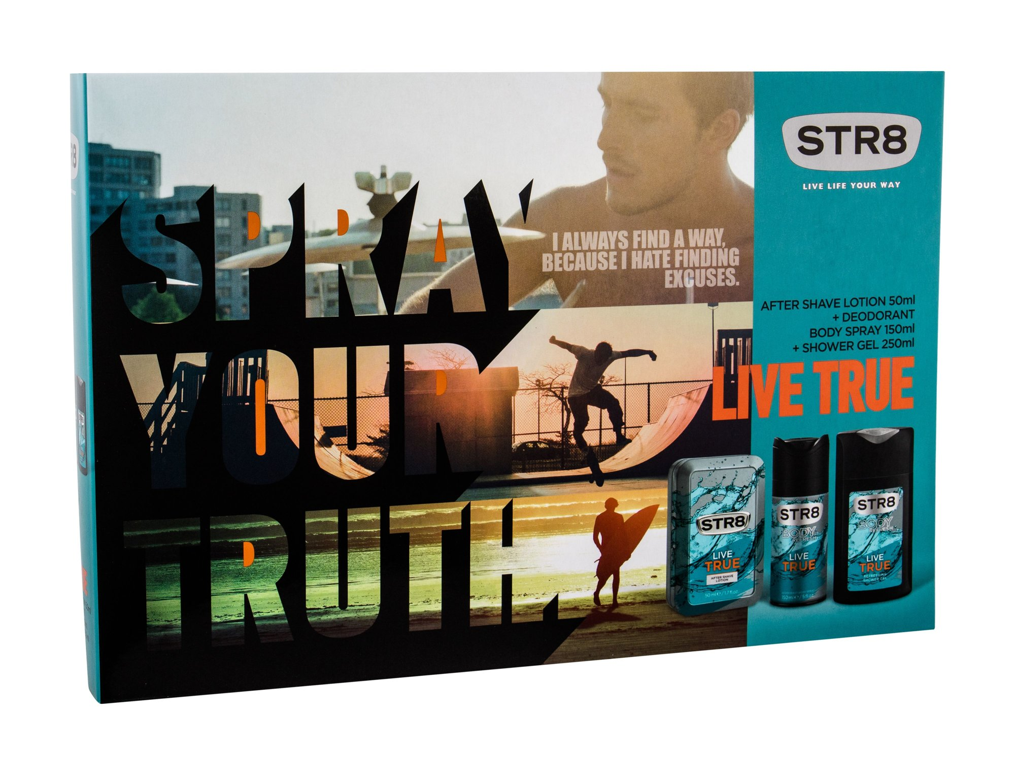 STR8 Live True Aftershave Water 50ml