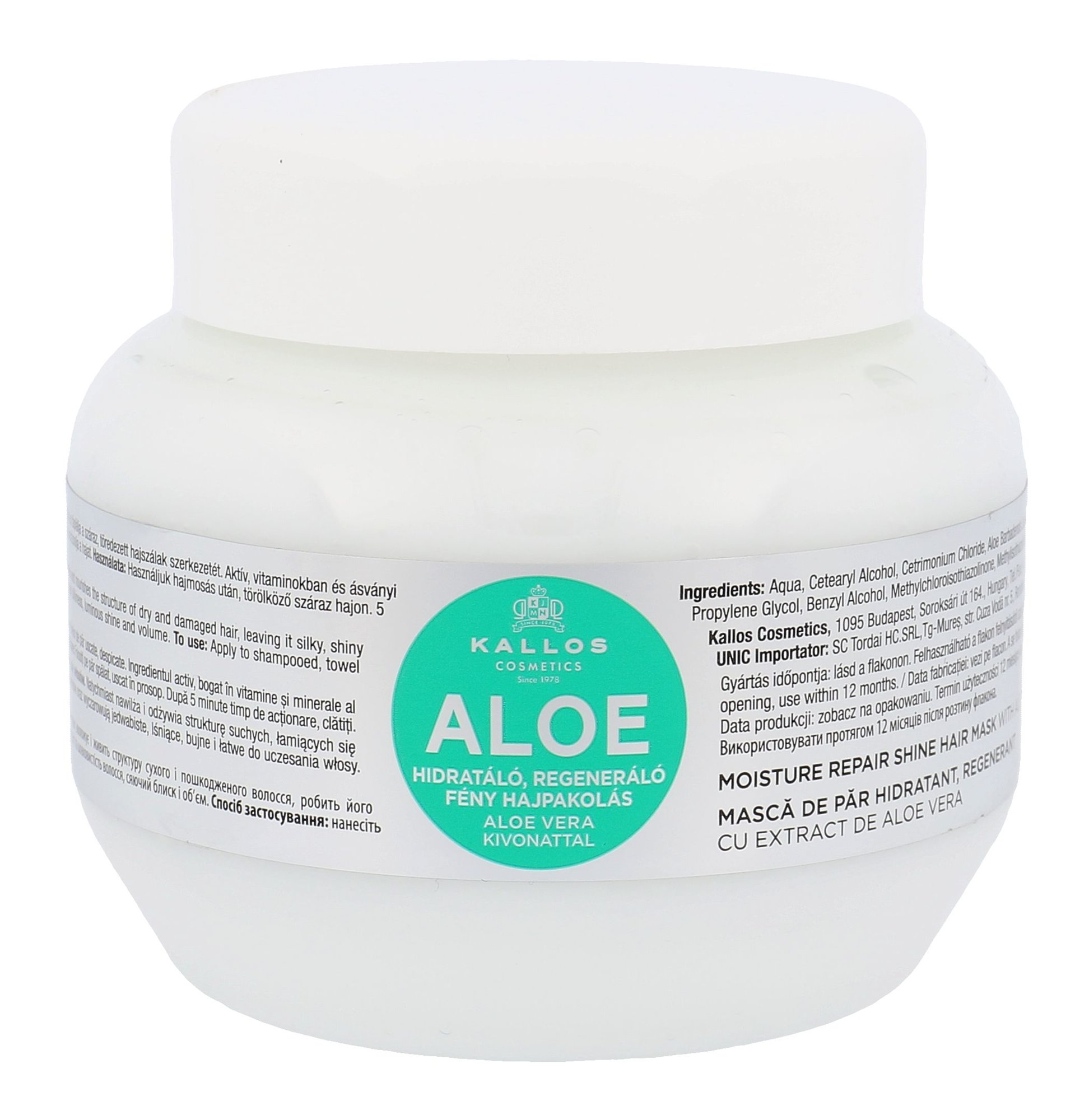 Kallos Cosmetics Aloe Vera Hair Mask 275ml