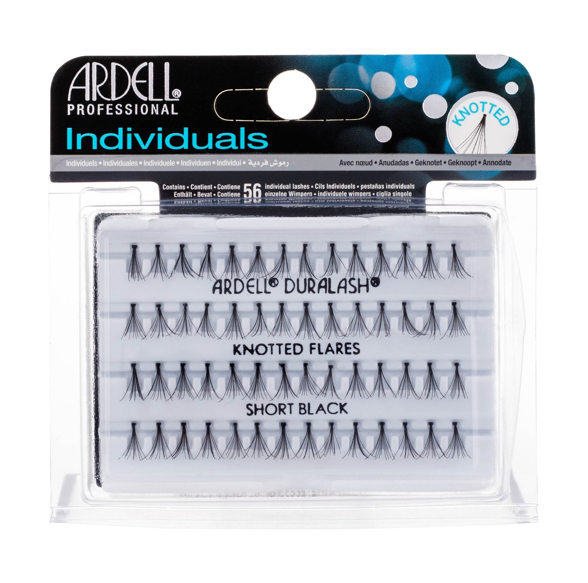 Ardell Individuals False Eyelashes 56ml Short Black Duralash Knotted Flares