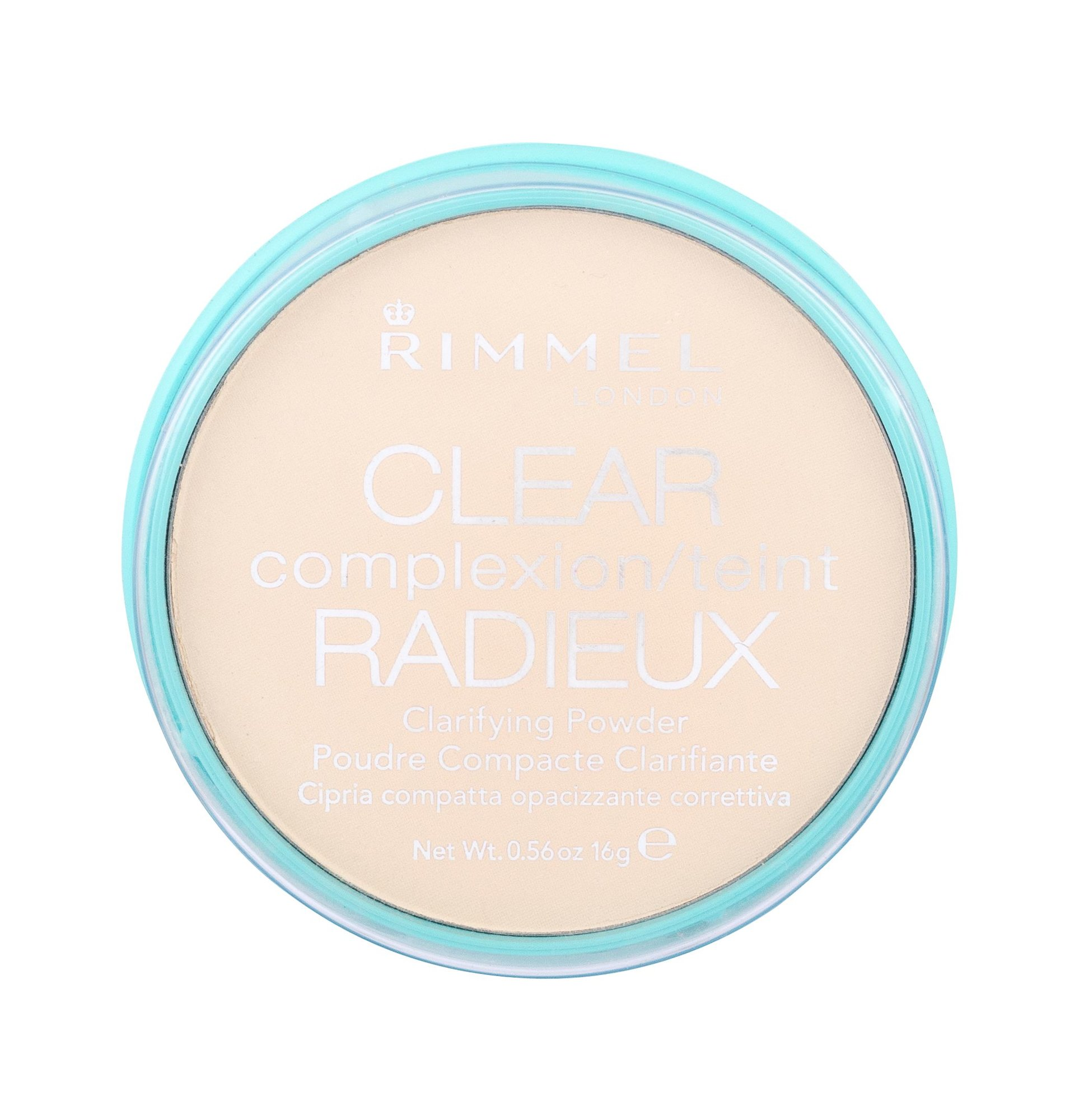 Rimmel London Clear Complexion Powder 16ml 021 Transparent