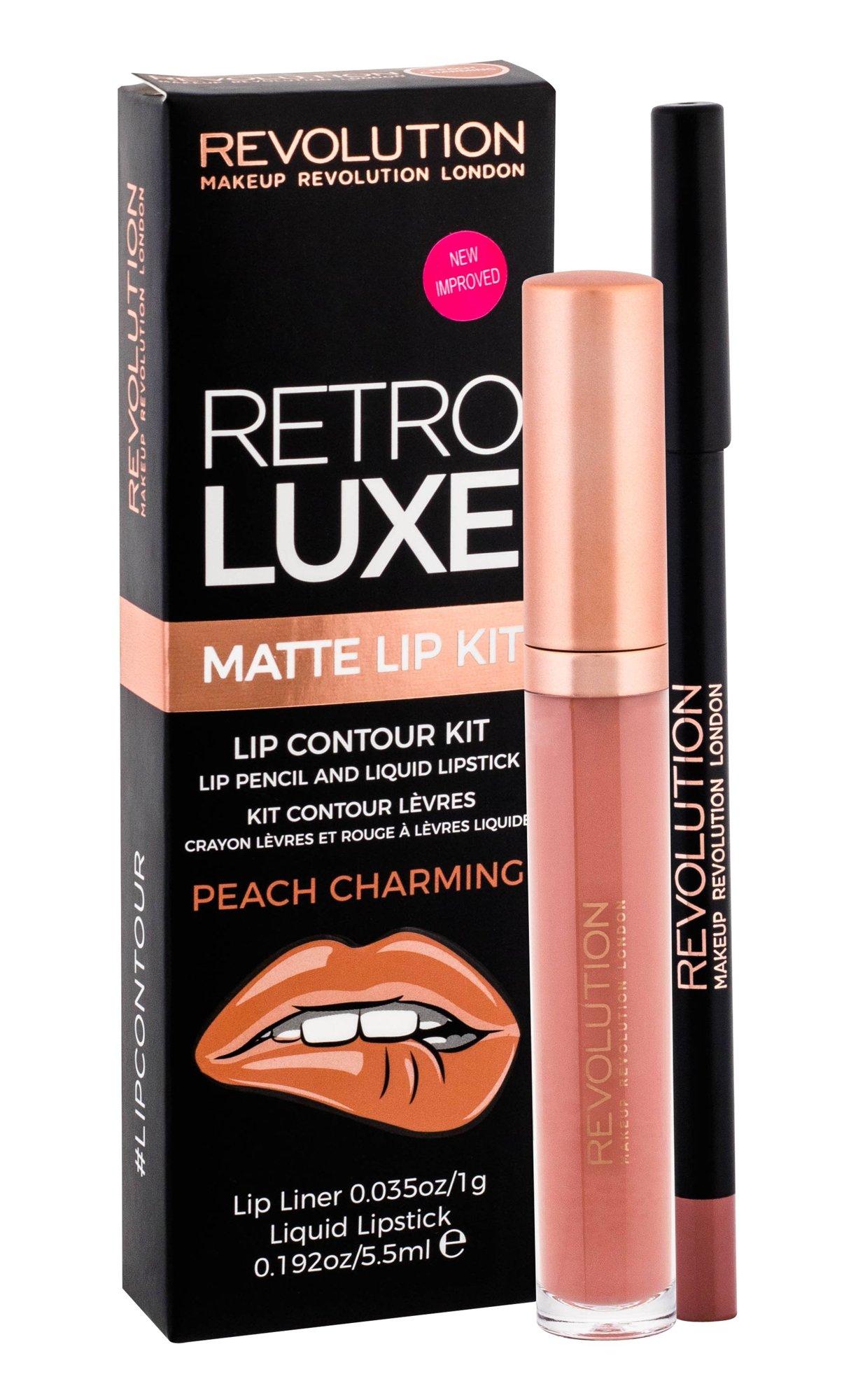 Makeup Revolution London Retro Luxe Lipstick 5,5ml Peach Charming